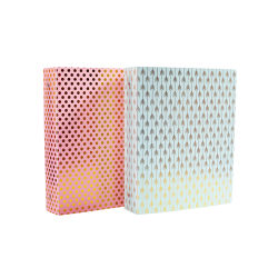Gold Stamping Plastic 3 Ring Binder for American