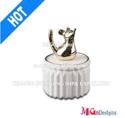Handmade Ceramic OEM Flower Jewelry Box for Wedding Gifts