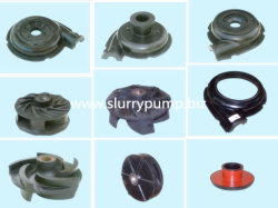 Interchangeable Mining Ash Slurry Pump Rubber Spares Parts