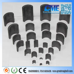 R100xr70X180degreex55mm Y35 Arc Ferrite Magnets for Motor