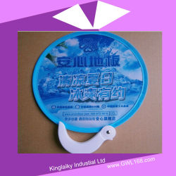 190t Polyester Foldable Frisbee Fan with Screen Printing Folding Flying Toy FT-001