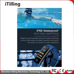 Fashion Gift Fitness Smart Watch with Bluetooth IP67 Waterproof Sports Tracking, Cool Night Running, Swimming in The Water, Hiking, Riding, Climbing