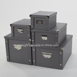 Multipurpose Strong Foldable Storage Box with Metal Button and Handle for Office / Home Packing & China Strong Storage Box Strong Storage Box Manufacturers ...