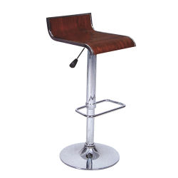 Classical Furniture Single Stainless Steel Leg Bentwood Bar Stool (FS-331)