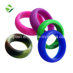 Colorful Silicone Wedding Ring for Sports