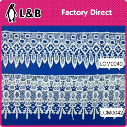 Wholesale Garment Border Lace Chemical Lace 100% Polyester Water Soluble Lace