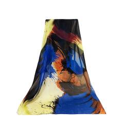 e6c8a1af9fe Custom Digital Print 100 Pure Silk Shawl Scarves for Ladies Women