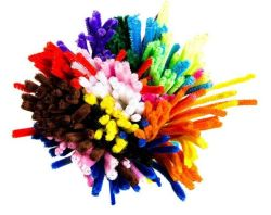 Jumbo Chenille Stems for Crafting and Embellishment Assorted Colours