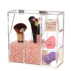 Square Wholesale Acrylic Cosmetic Display Cabinet and Showcase for Brush Display