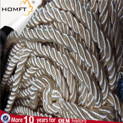 High Quality Raw White Black Braided Flat Hollow Cotton Rope for Bag Garment Shoes Cap