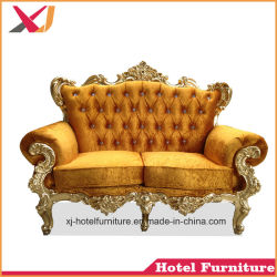 Golden Wood Sofa Bed for Banquet/Hotel/Restaurant/Wedding/Living Room/Dining Room