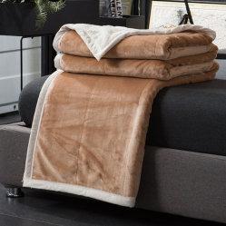 New Product of Double Lay Flower 3D Reactive Printed Thicken Blanket, Fleece/Raschel Warm Blanket