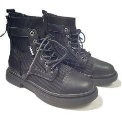 Women Girls Kids Casual Leather Heel Boot Sport Fashion Shoes