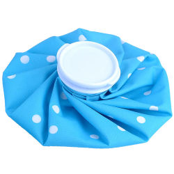 Hot and Cold Treatment for Sport Pale Blue Ice Bag Ice Pack with White Dots
