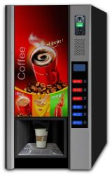 Coin Coffee Drink Machines, Vending Machine, Snack Bar, Type W-600t