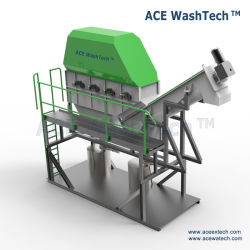 High Productivity Professional Design Used Mulching/PP/PE/Black Film and Cement/Jumbo/Woven Bags Washing Drying Machine