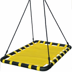Giant Deluxe Mat Platform Swing Made of Nylon Rope and Padded Steel Frame for Multiple Children