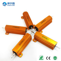 50W China Supply Metal Resistance Gold Color Aluminum Encased Power Resistor