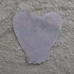 Heart Design with Shine Diamond Pringting Pacth for Woven's Apparel