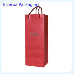Professional Wine Bottle Packaging Red Paper Bag (BP-BC-0082)
