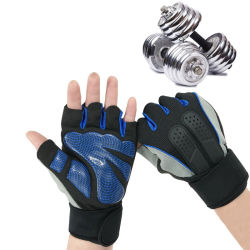 Wholesale Custom Half Finger Fitness Sports Gym Weight Lifting Gloves for Men