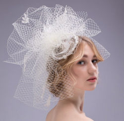 23b79946b43 White Black Red Ivory Bowknot Wedding Hair Ornaments Bridal Headpiece  Fascinator (Dream