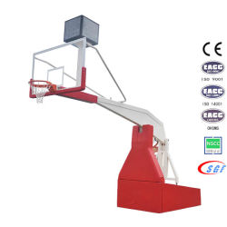 Basketball Equipment Electric Hydraulic Folding Basketball Stand Base with Tempered Glass Backboard