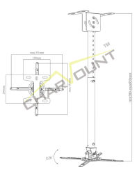Wholesale Goods From China 240 Degrees Swivel TV Bracket (CT-PRB-10)
