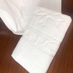Cotton 16s Single Yarn Embossed Towel/Jacquard Hotel Towel Set