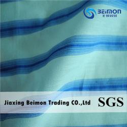 2016hot Item— 12mm 20%Silk 80%Cotton in Blue Stripe Shirt Fabric