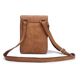 Wholesale Price Good Quality Vintage Crazy Horse Leather Sport Cell Phone Sling Bag