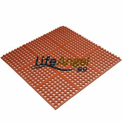 Anti Slip Rubber Kitchen Sink Mats Drainage Holes Mat