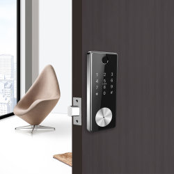 Smart WiFi Access Bluetooth Remote Control Digital Fingerprint Combination Door Locks with Automatic Electronic Deadbolt
