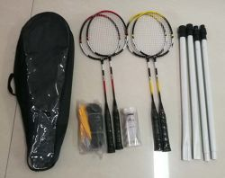 Customized Badminton Rackets Set for 4 Person Play