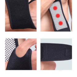 1 Pairs Tourmaline Magnet Wrist Straps Wraps Self-Heating Wristbands Keeping Warm Products Sports Safety Health Care