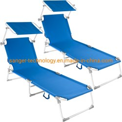 Outdoor Patio Portable Folding Chaise Lounge Chair With Aluminum Frame And Textilene Fabric