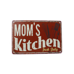 Wholesale Manufacturer Retro Metal Tin Kitchen Signs For Home