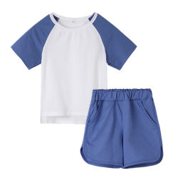 c75d4f178 Baby Boy Children Cotton Tracksuit Kids Pajamas Summer Sportwear Clothes