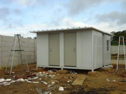 Construction Site Used Sandwich Panel House in Indonesia