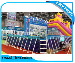 PVC Above Ground Steel Swimming Pool Rectangular Metal Frame Pool