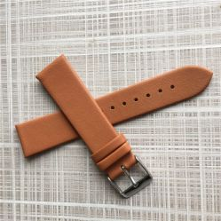 Interchangeable Flat No Stitching Genuine Leather Watch Strap