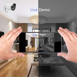 Ahd DVR Kit Security Camera System 4 Channel Indoor/Outdoor Waterproof Bullet Camera IR Night Vision CCTV Surveillance Camera