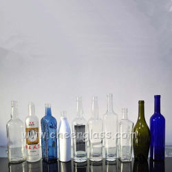 China Wholesale Screen Printing Frosted Glass Liquor Bottles