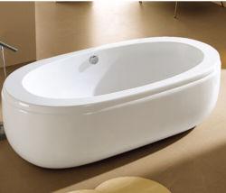 "Big Size 74"" Oval Tub Wide Edge Freestanding Bath Tub"