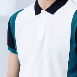 Wholesale Sportswear 100% Polyester Dry Fit Custom Two Color Combination Mens Polo Shirt