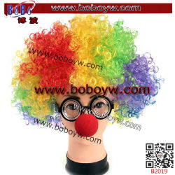 Wedding Birthday Clown Party Products Afro Wig School Children Sport Gifts (B2019)