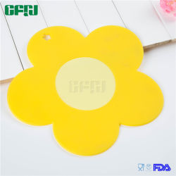 Factory Supplier Flower Shaped Food Grade Silicone Coaster