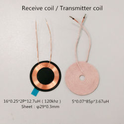 Custom Cellphone Qi Rx Tx Wireless Charger Coil