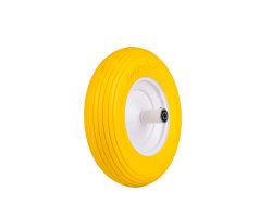 400-8 Yellow PU Foam Lawn Mower Wheels