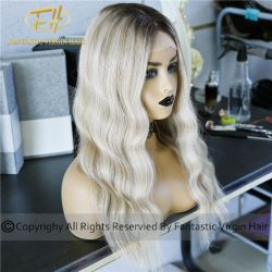 Upscale Wig Shop Supplier Balayage/Somber/Highlights Lace Frontal/Full Lace Wigs Sc7-4-2018-C